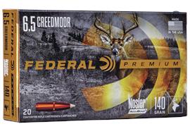 Federal 6.5 Creedmoor140Gr Nosler Accubo 20 Schuss