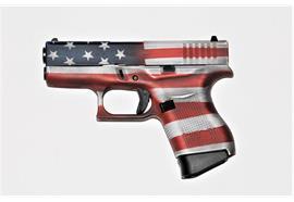 Pistole Glock 43 Battle Worn US Flag 9 Para