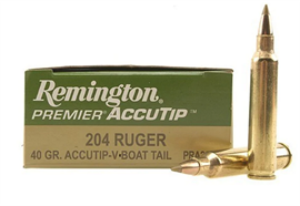 Remington 204 Ruger 40gr Accutip-V 20 Schuss