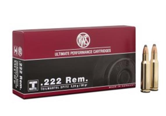 RWS .222 Rem TMS 3.24g 20 Schuss