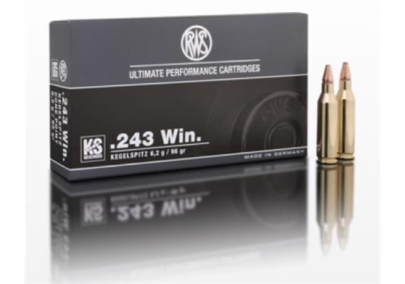 RWS .243 Winchester 6.2g KS 20 Schuss
