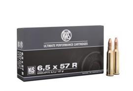 RWS 6.5x57R 8.2g KS 20 Schuss