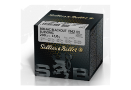 Sellier & Bellot 300 AAC Blackout Subsonic 200 gr