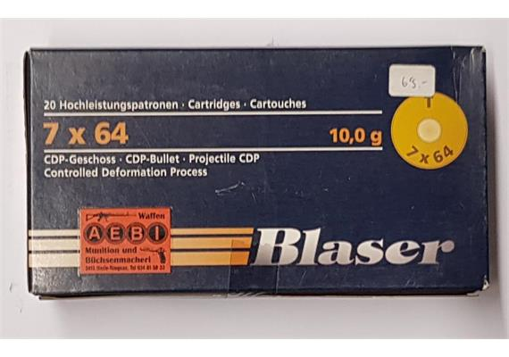 Blaser 7x64 10.0g CDP 20 Schuss