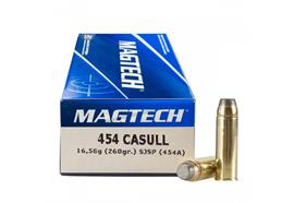Magtech .454 Casull 260gr FMC-Flat 20 Schuss
