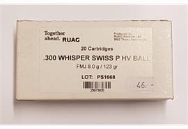 Ruag 300 Whisper 123gr Swiss P HV 20 Schuss