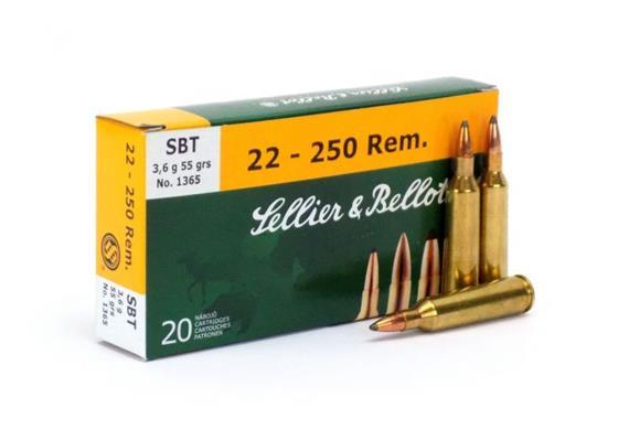 Sellier & Bellot .22-250 Rem 55 Gr SBT 20 Schuss