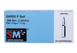 SM .308 Win 176gr FMJ 20 Schuss