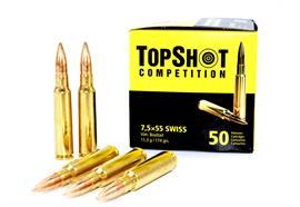 Topshot 7.5x55 11.3g Vlm Boattail 50 Schuss