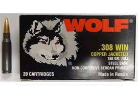 Wolf .308 Win 150gr FMJ 20 Schuss