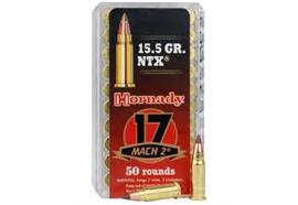 Hornady 17 Mach 2 15.5gr NTX 50 Schuss