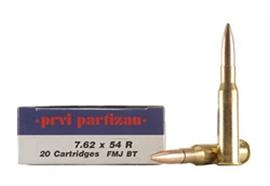 Partizan 7.62x54R 190Gr FMJ 20 Schuss