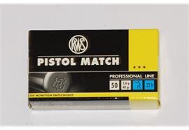 RWS 22L.r Pistol Match 50 Schuss