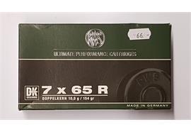 RWS 7x65R 10.0g Doppelkern 20 Schuss