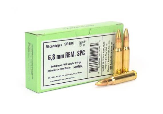 Sellier & Bellot 6.8mm Rem SPC 110Gr FMJ 20 Schuss