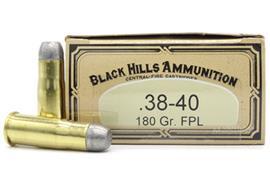 Black Hills .38-40 180Gr FPL 20 Schuss