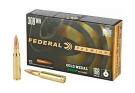 Federal 308Win Gold Medal 168gr 20 Schuss