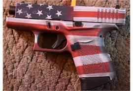 Pistole Glock 43 Battle Worn US Flag 9 Para