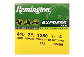 Remington 410/65 Express ELR No. 4 25 Schuss