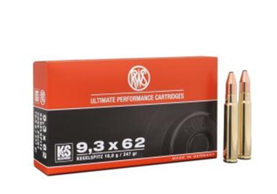 RWS 9.3x62 16g KS 20 Schuss