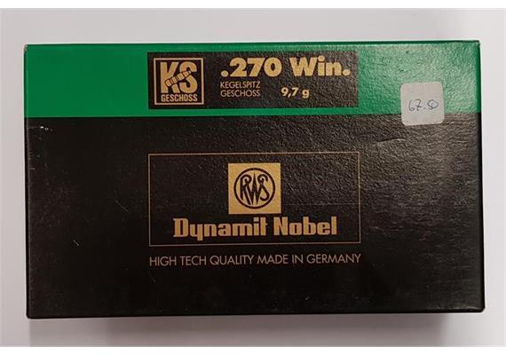 RWS Dynamit Nobel 270 win 9.7g KS 20 Schuss